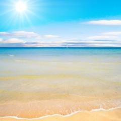 beach under sun