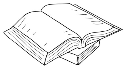 opened book icon, vector