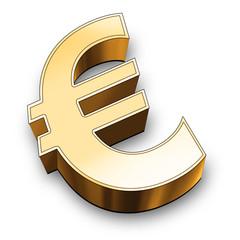 3d euro symbol gold