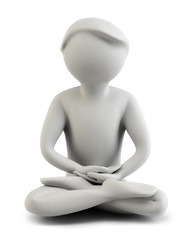 3d people - meditation