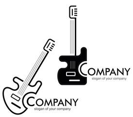 Guitar - logo, logotype