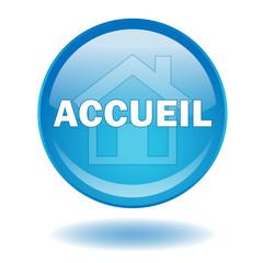 Bouton Web ACCUEIL (Page Site Internet Entrée Bienvenue Maison)