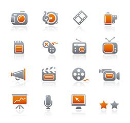 Graphite Icons  //  Multimedia
