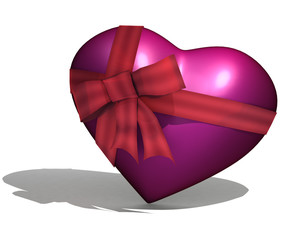 Heart in a gift