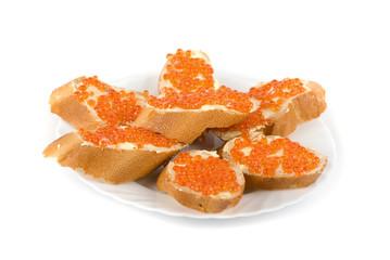 Sandwich caviar