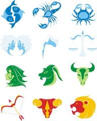 Zodiaco Universo-Universe Zodiac-Zodiaque Univers-Vector