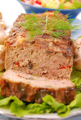 meatloaf with mushrooms and paprika