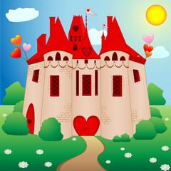 Printed kitchen splashbacks Castle Fairy tale princess castle