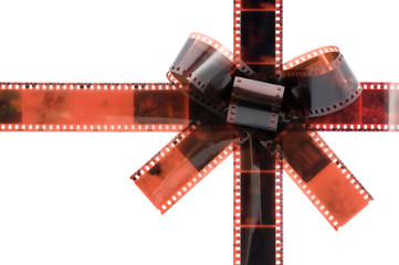 film tape bow isolated on white