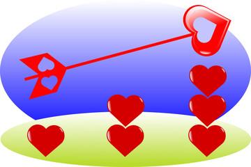 color diagram heart