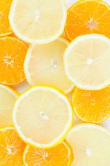 Segments of fruits