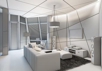 outline living room
