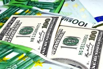 dollars and euro