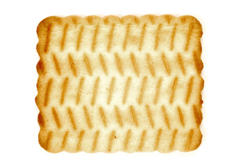 biscuit isolated on a white background