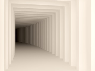 white tunnel
