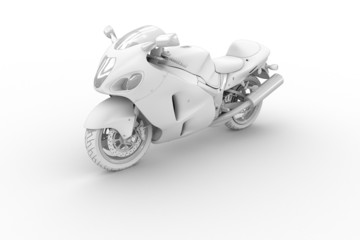 Bike - isolated on white