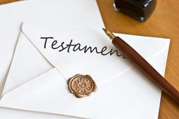 Umschlag Testament