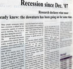 Photo sur Aluminium Journaux crisis, unemployment, jobless, recession issues, paper