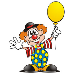Clown mit Luftballon