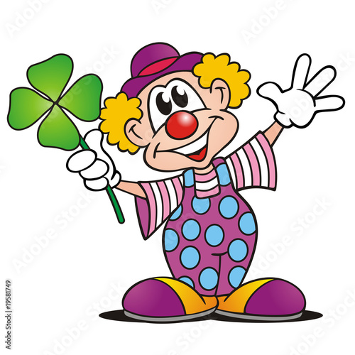 Clown Mit Kleeblatt Stock Photo And Royalty Free Images On Fotolia