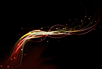 Abstract fire background with transparency eps10