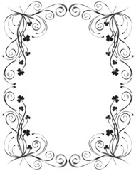 floral frame for design, vector