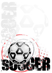 soccer circle poster background 5