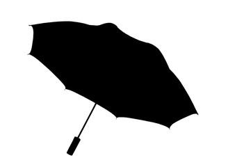 Silhouette of  umbrella  isolated