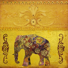 Indischer Elefant gemalt