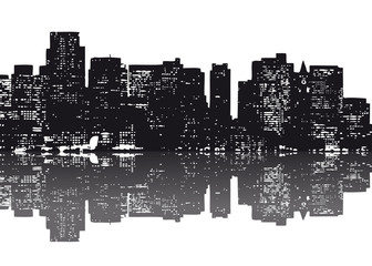 New York Skyline abstrakt