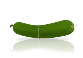 Cucumber and condom
