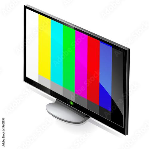t l vision cran plat allum sur la mire reflet fichier vectoriel libre de droits sur la. Black Bedroom Furniture Sets. Home Design Ideas