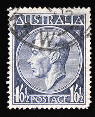 Vintage Australian stamp used and franked