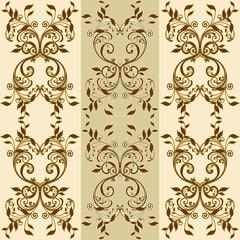 floral decorative patterns in stiletto baroque and rococo