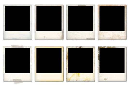 Empty vintage photo frames