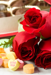 Roses and Candy Hearts