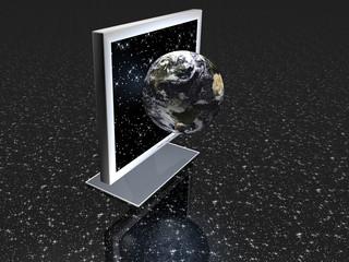 Illustration zum Thema Web - Global - 3D