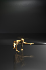 Sportsmenka - Gimnastyczka w trakcie ćwiczeń