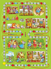 "Board game ""Three bears"""