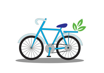 bicycle with leaves