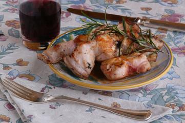 Sella di coniglio al vino - Secondi di carne