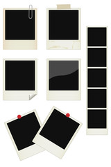 Vector photo instant frames set
