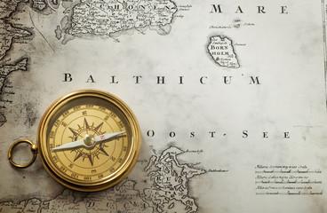Wall Mural - compass