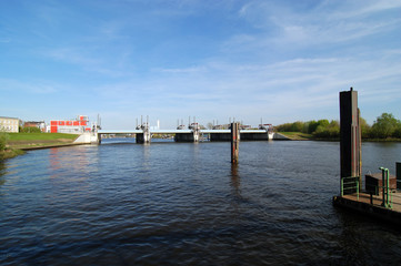 Bille Sperrwerk Billwerder Bucht Hamburg Tiefstack