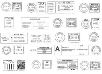 european postmarks