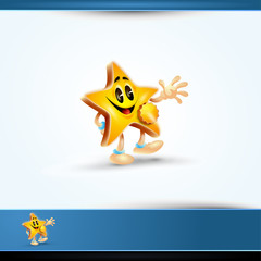 Highly Detailed 3D Vector Star Character
