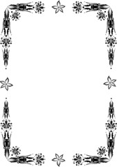 Rahmen, Blumen, floral, ornamental, filigran, Schnörkel