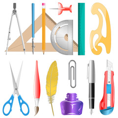 vector icons of drawing instrument