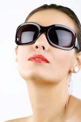 young, beautiful woman wearing sunglasses