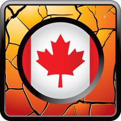 canadian flag orange cracked web button